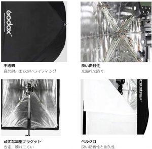 ソフトボックス傘形状