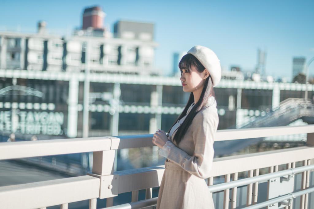 歩道橋ポートレート